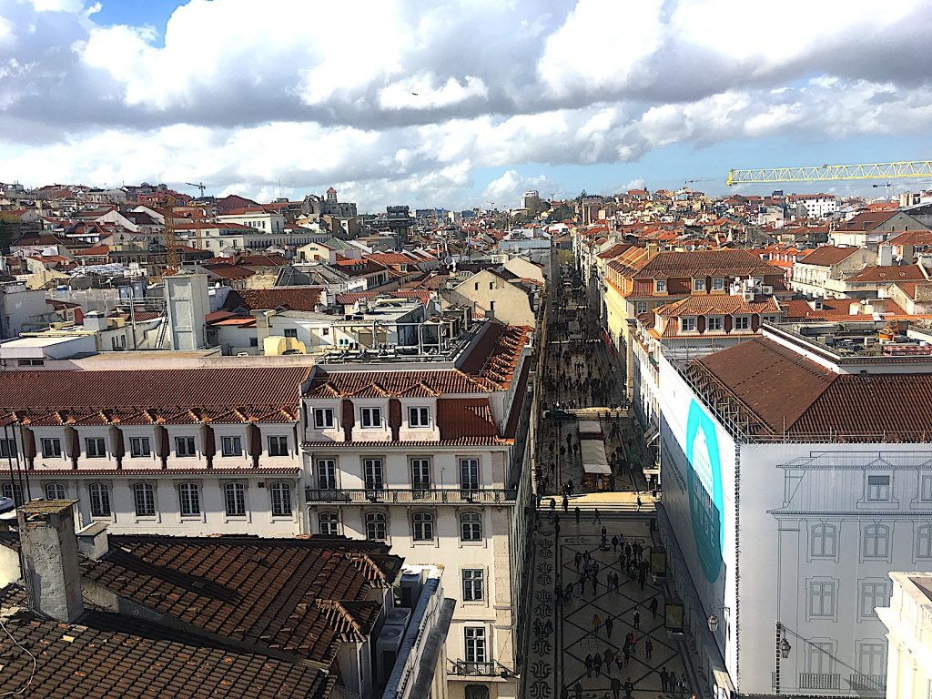 Rua Augusta facing Rossio square