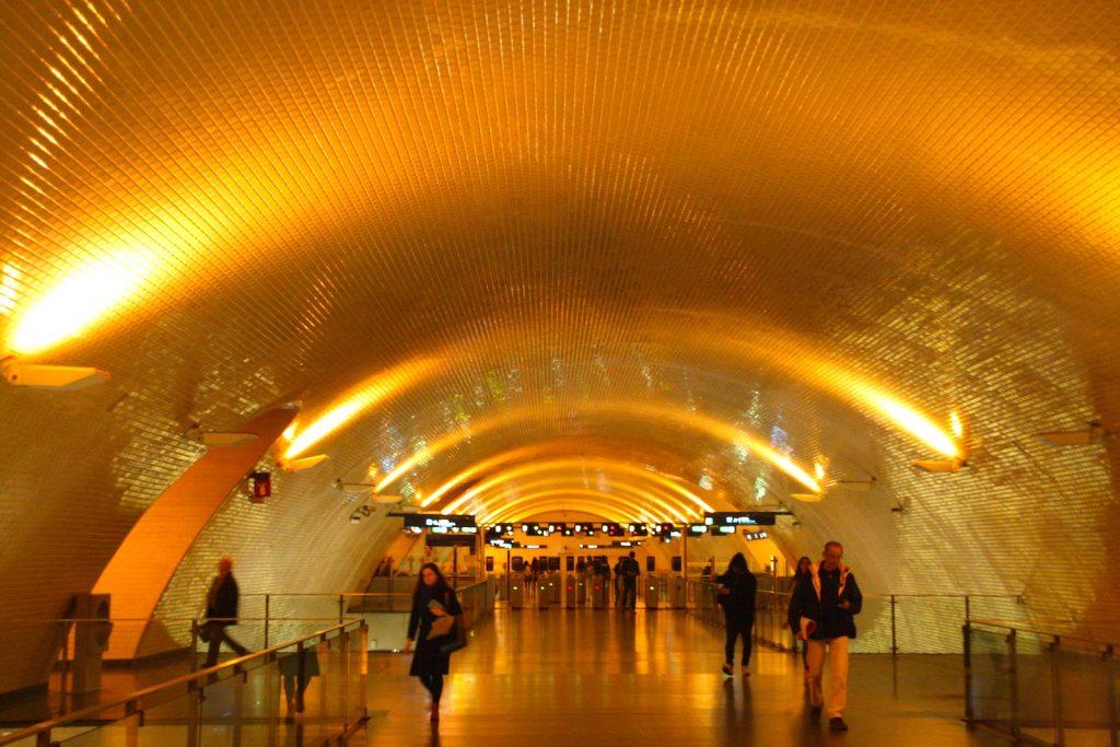 Metrostation Baixa-Chiado in Lissabon