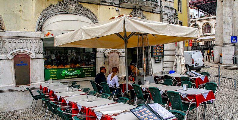 Pastelaria Beira Gare bi stationj Rossio, Lissabon