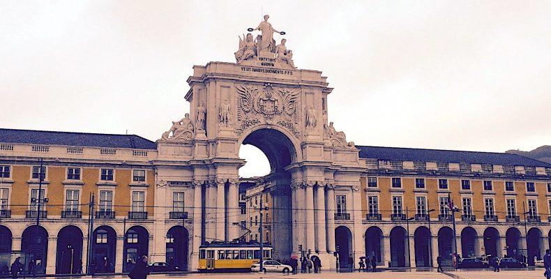 Praca do Comercio plein, Lissabon
