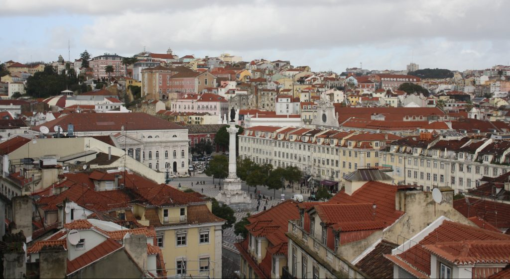 Rossio, central square in LIsbon