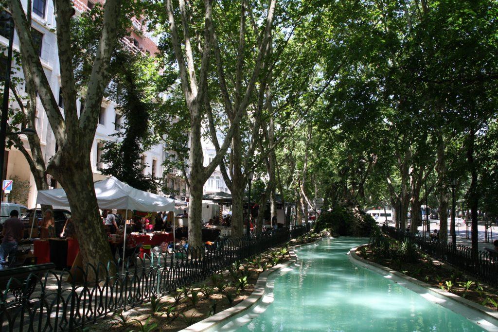 Avenida Liberdade pond