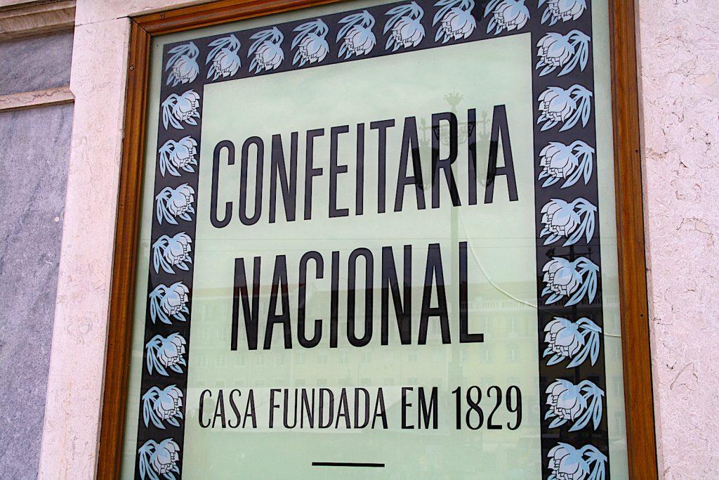 Confeitaria Nacional plaquard