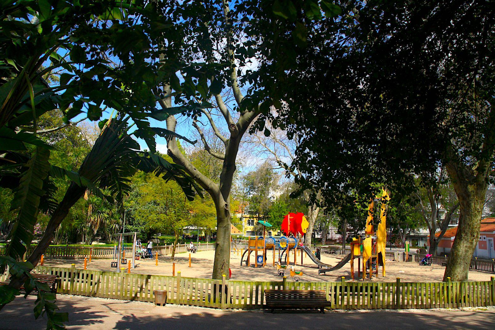 Speeltuin in Jardim da Estrela, Lissabon