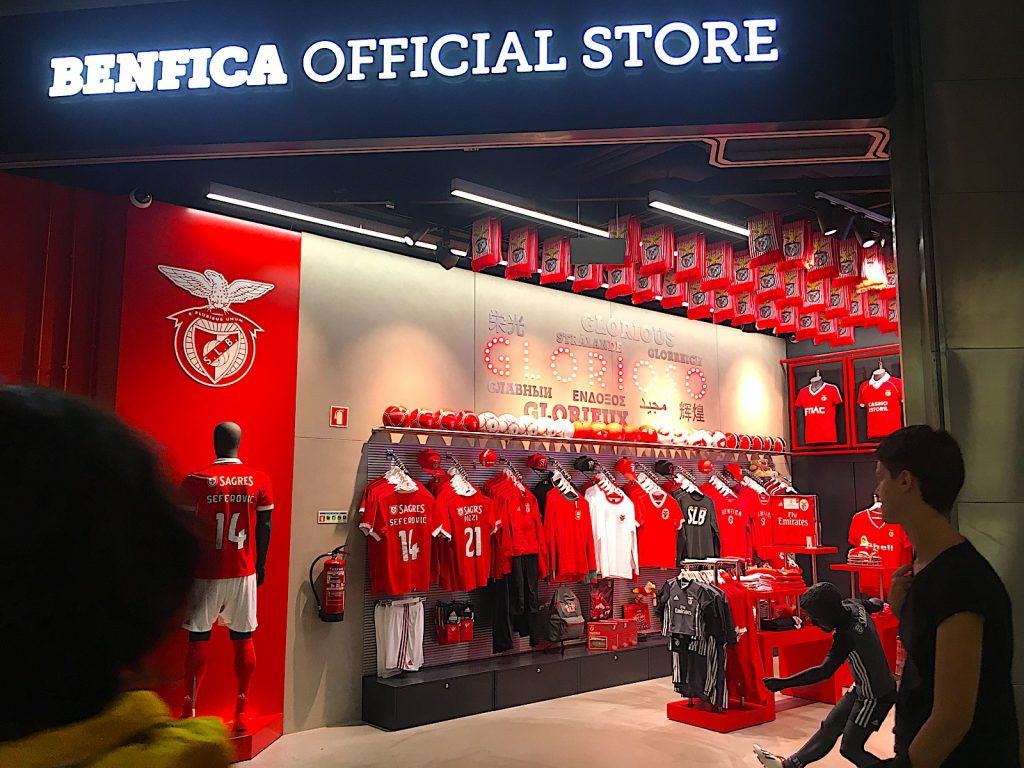 Benfica store op luchthaven