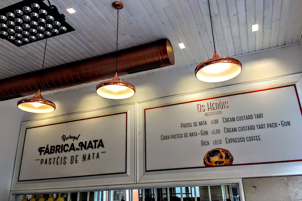 Pastelaria Fábrica da nata, Lissabon