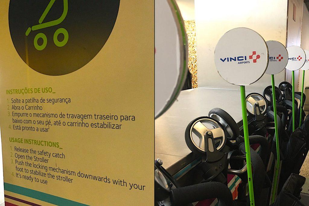 Gratis buggy lenen op Lissabon Airport