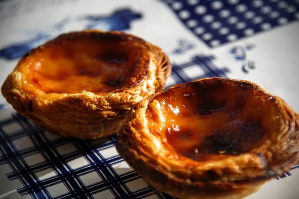 Pastéis de nata close up