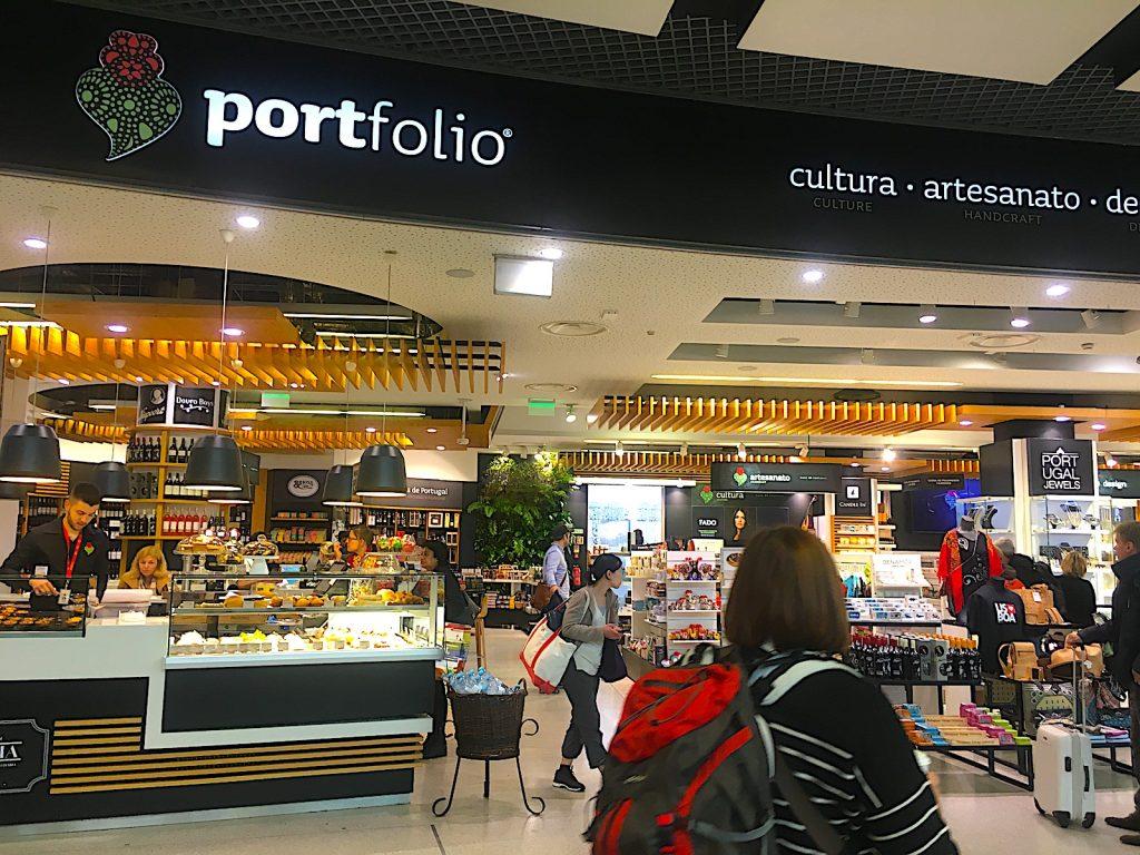 portfolio op luchthaven