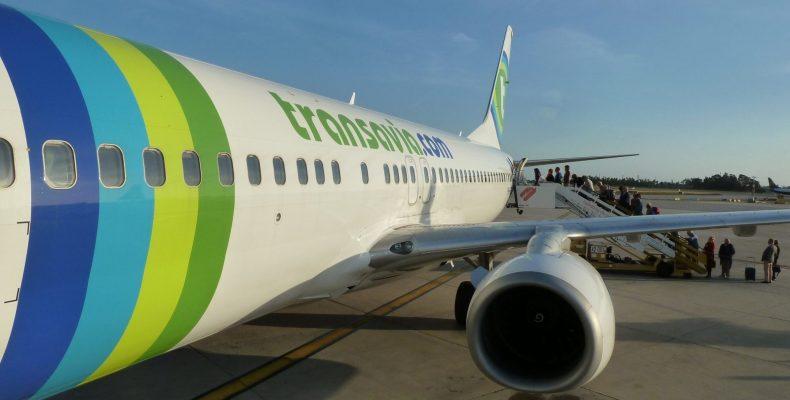 Transavia Winter Sale, vliegtuig op het tarmac