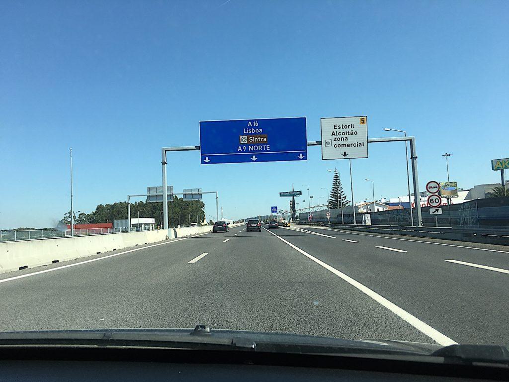 Auto huren - snelweg