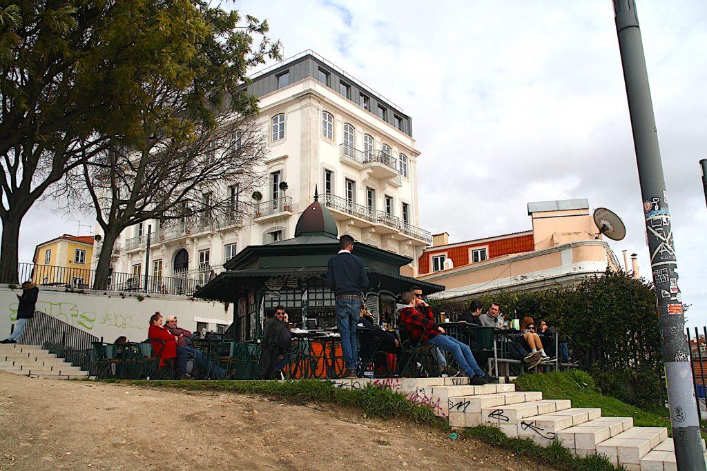 Miradouro Santa Caterina Quiosque met trap