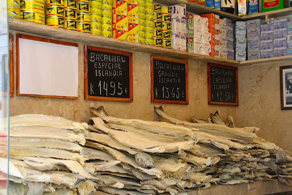 Bacalhau in de winkel