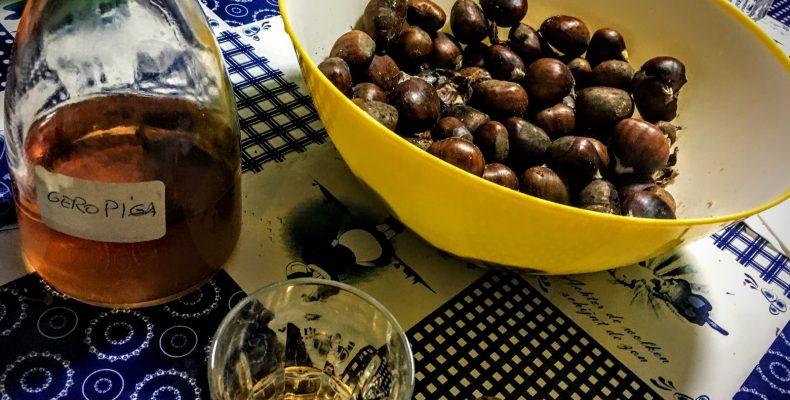 Gepofte kastanjes en Geropiga eten & drinken in Lissabon