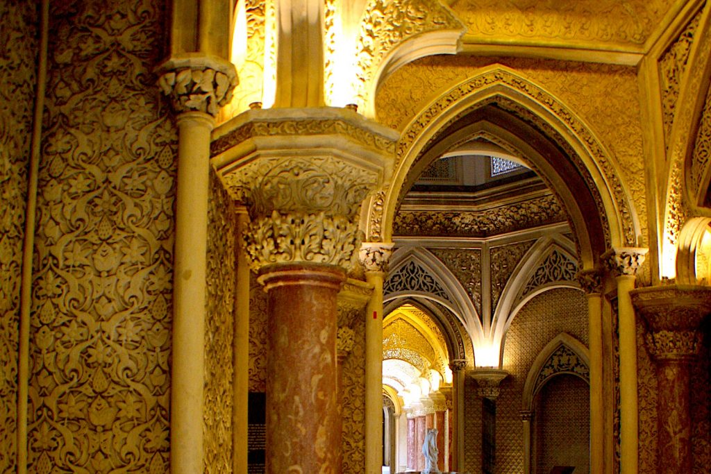Interieur van Palácio de Monserrate in Sintra