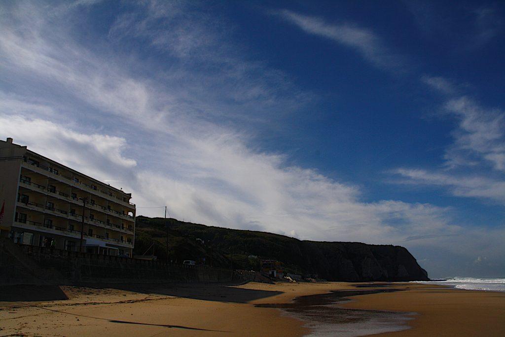 Praia Grande tot aan rotsen uitzicht