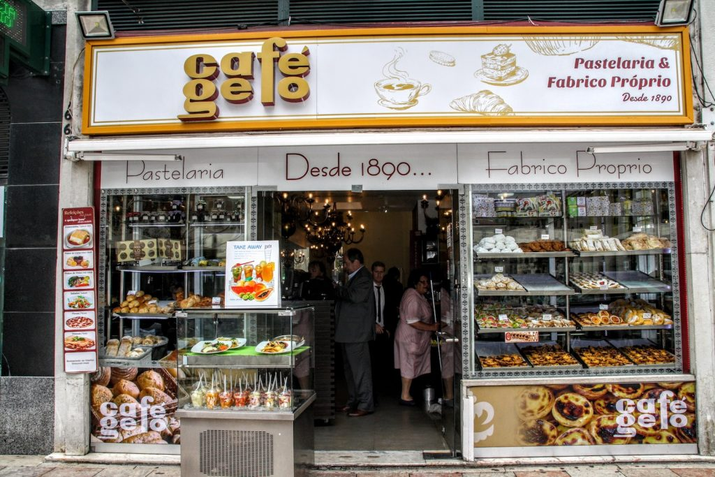 Café Gelo bij Rossio, Lissabon