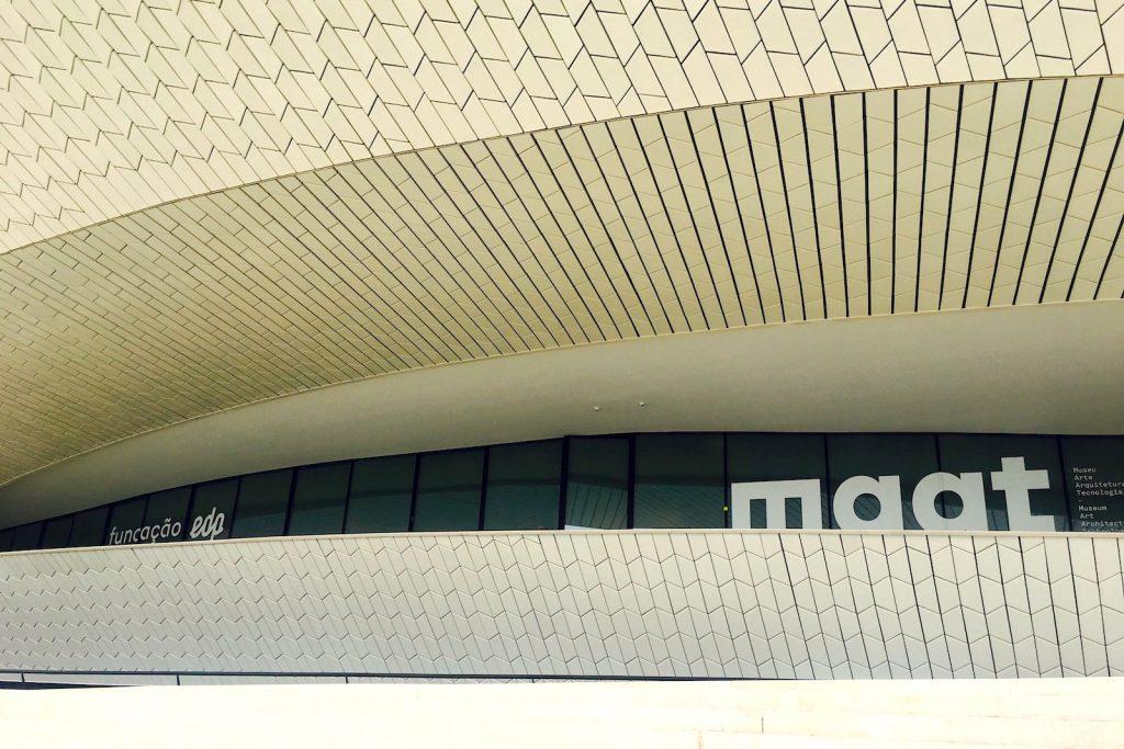 Voorkant museum MAAT Lissabon