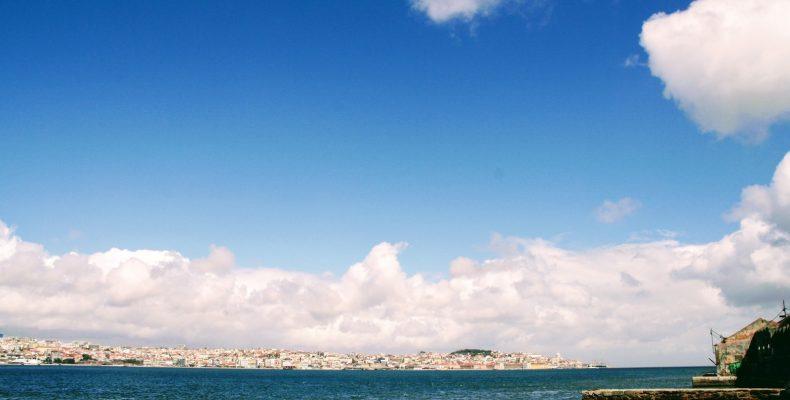 Uitzicht op Lissabon bij Restaurante Ponto Final