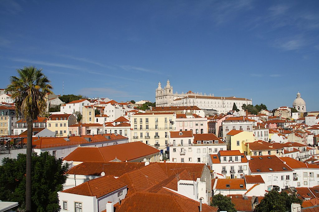 Het weer in Lissabon