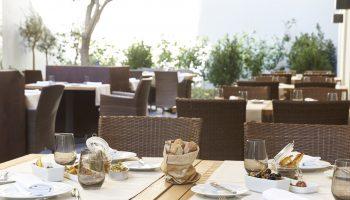 Tafel in restaurant Portugal