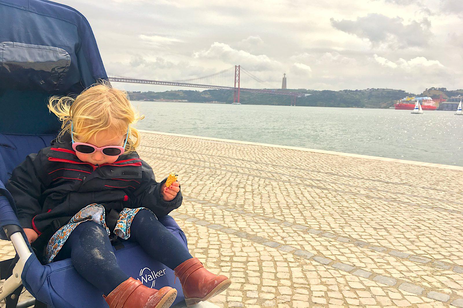 Easywalker buggy aan de Taag in Lissabon