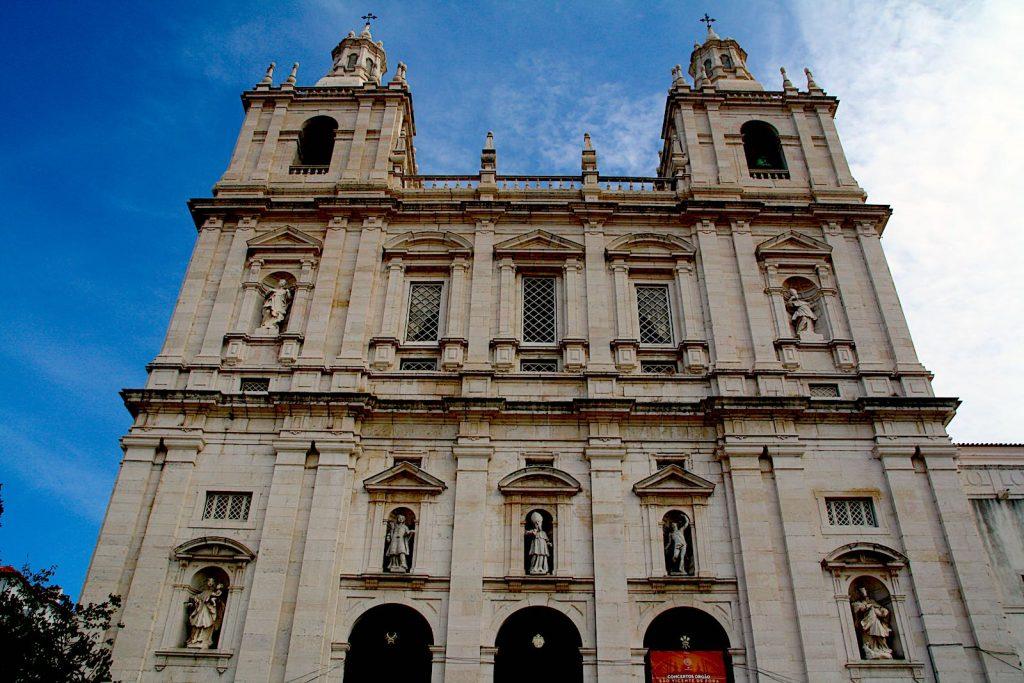 Voorkant Igreja de São Vicente de Fora, Lissabon