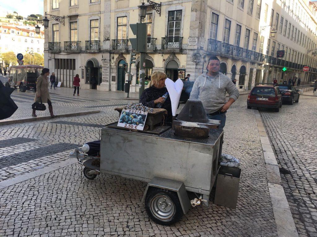 Kastanienverkauf in Lissabon