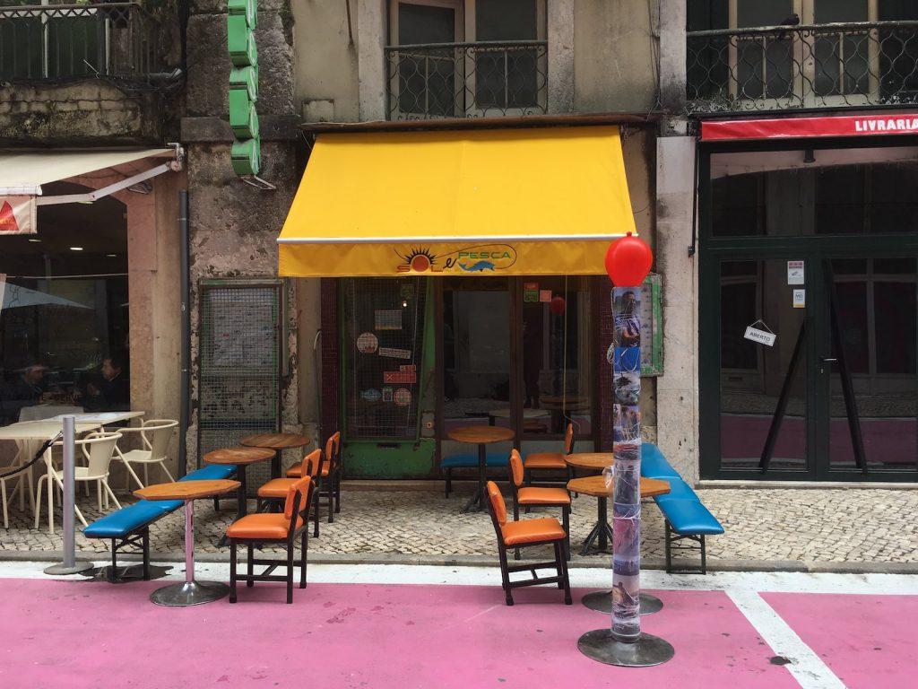Restaurant Sol e Pesca, Pink Street, Lissabon