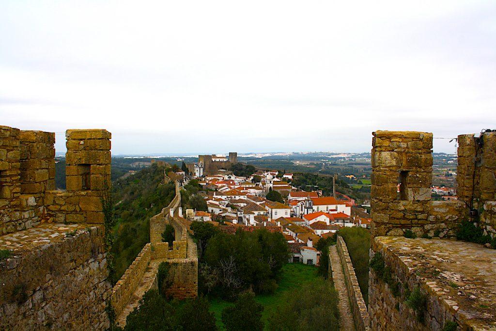 Obidos uitzicht stad