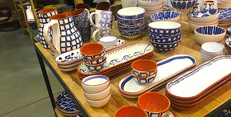 Ceramicas na Linha - blauwe keramiek