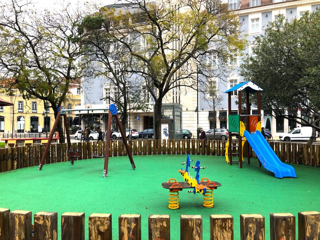 Jardim Dom Luis - nieuwe speeltuin