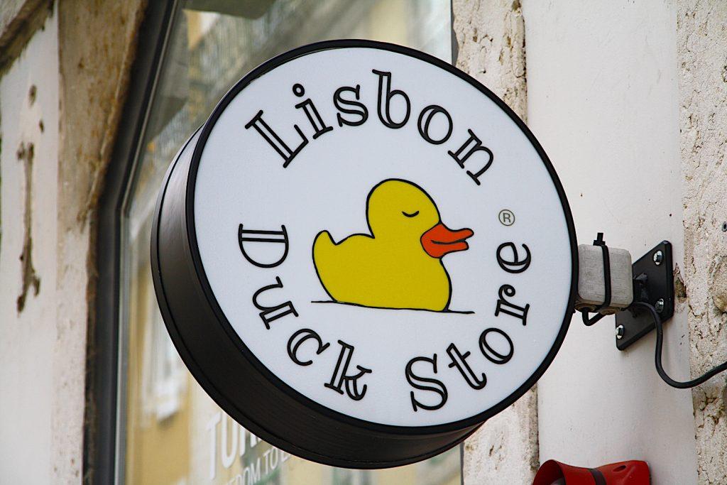 Lisbon duckstore ingang