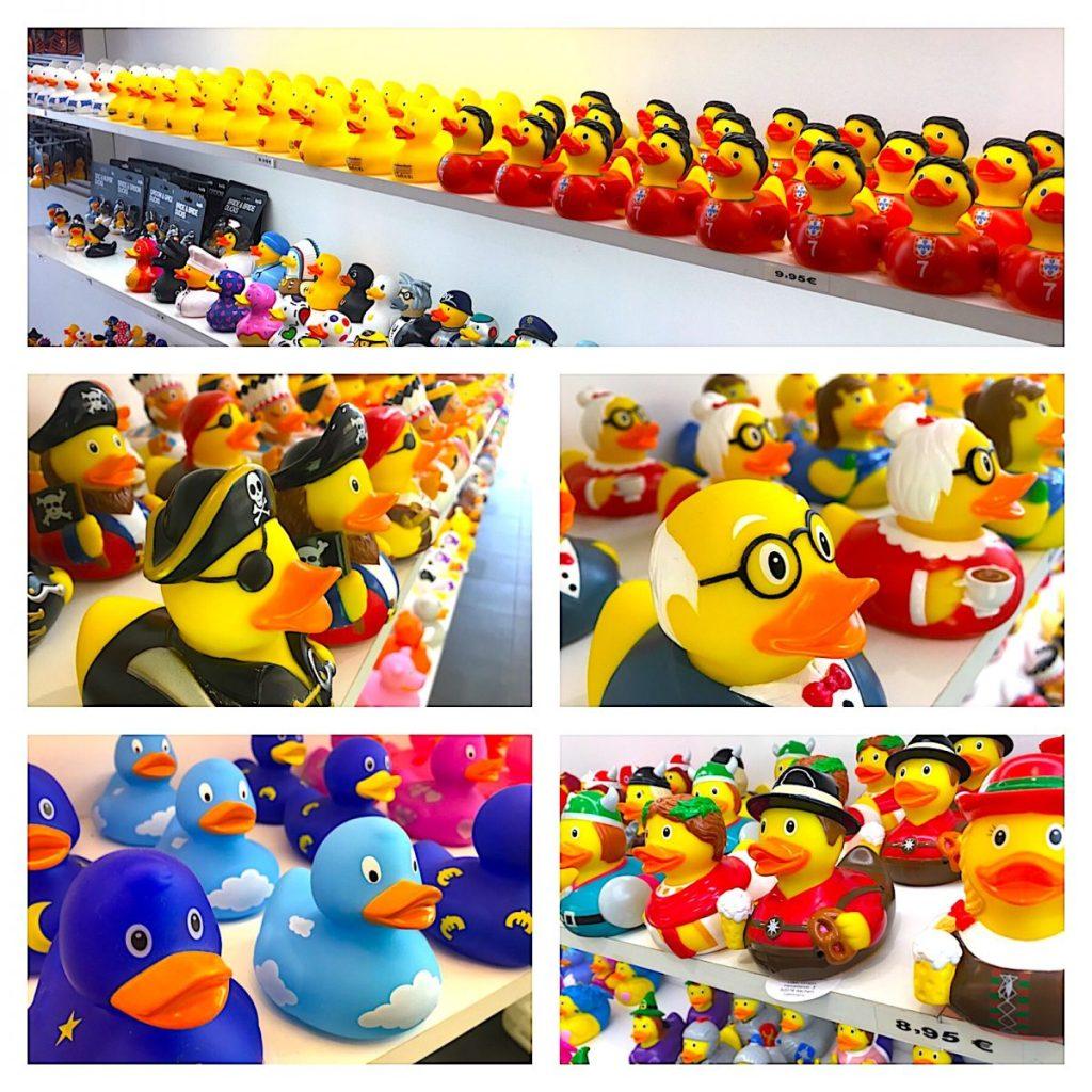 Overzicht eendjes Lisbon Duckstore