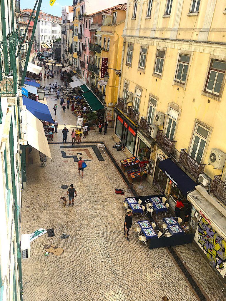 Rua das Portas de Santo Antão vanaf boven