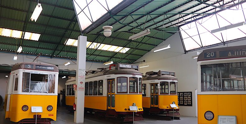 Museu da Carris - gele trams