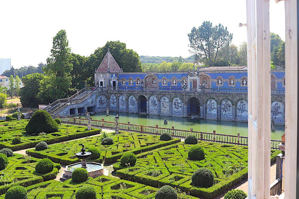 Palácio dos Marqueses de Fronteira vijver bovenaf