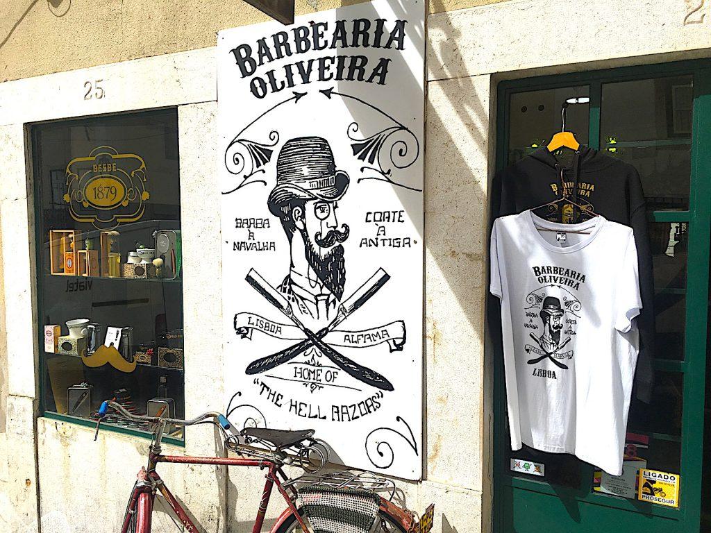 Barbearia Oliveira - ingang Alfama
