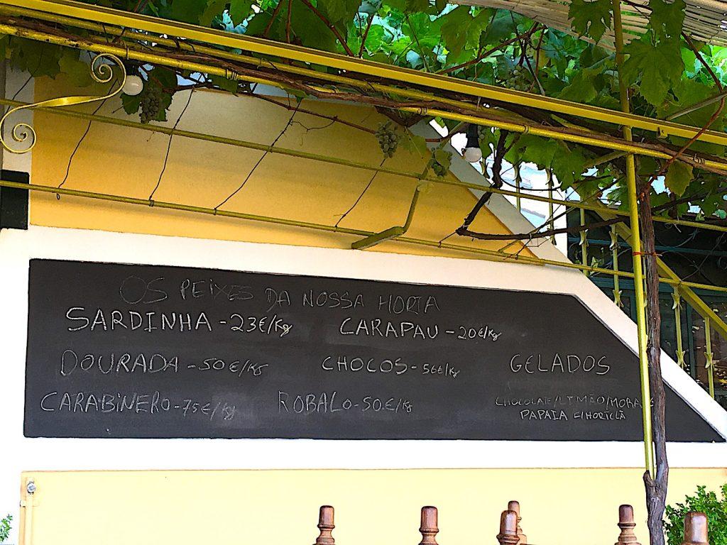 Horta - menu