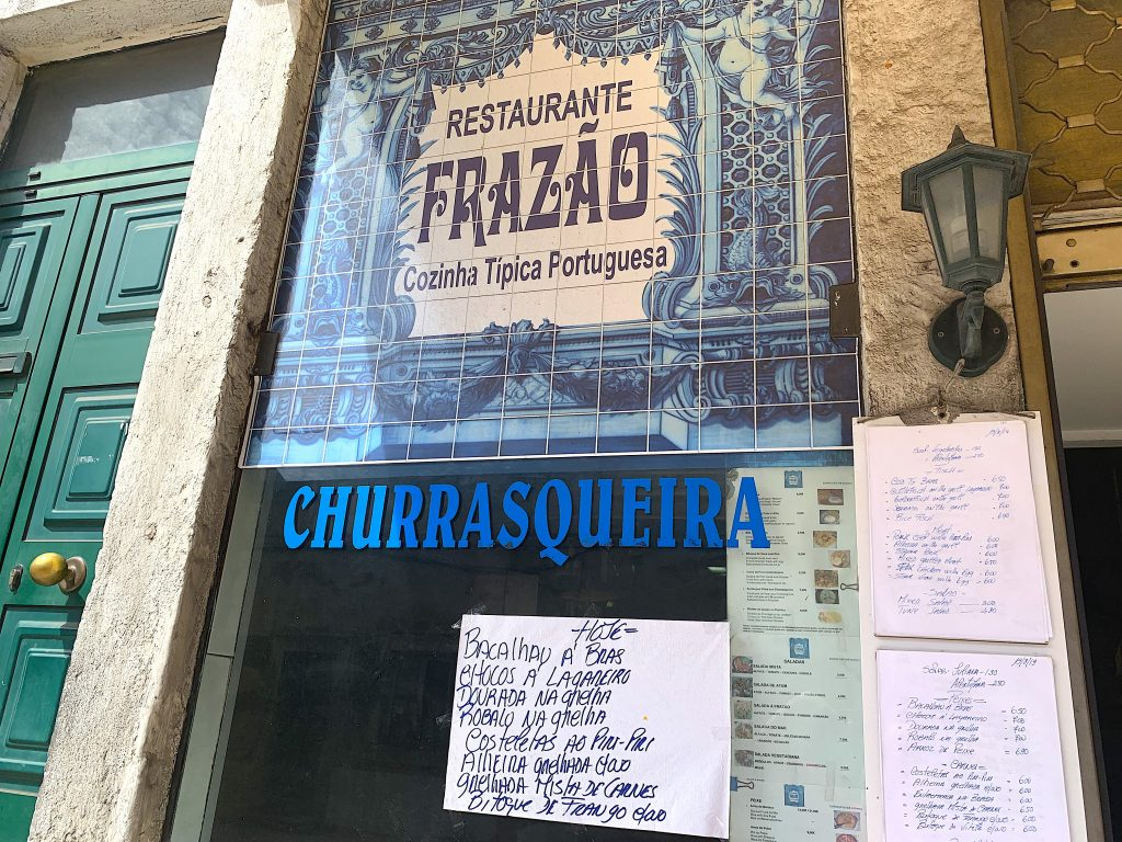 Restaurante Frazao ingang